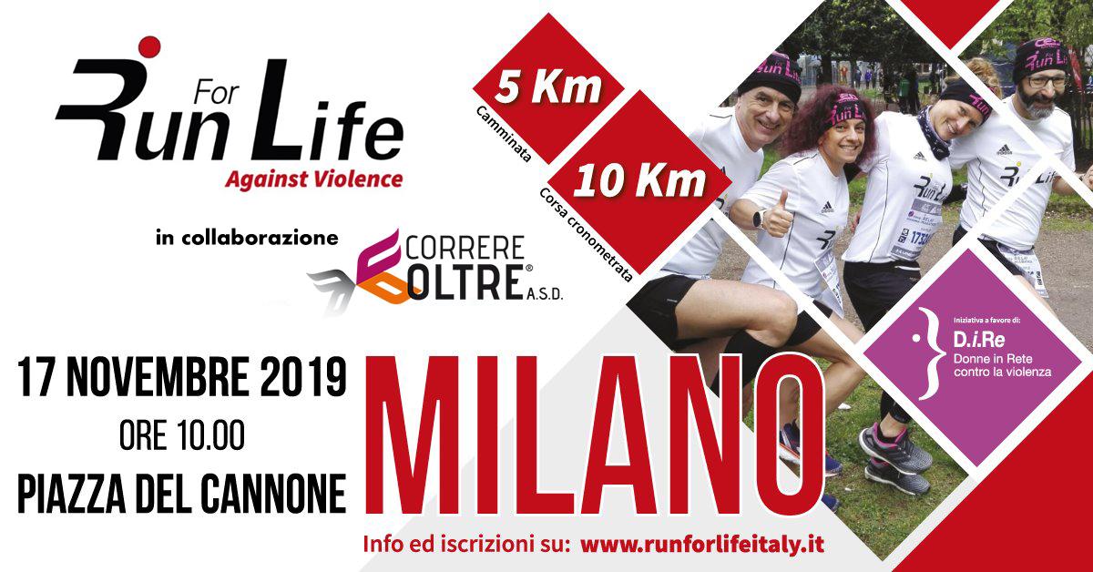 run for life 2019 correre oltre