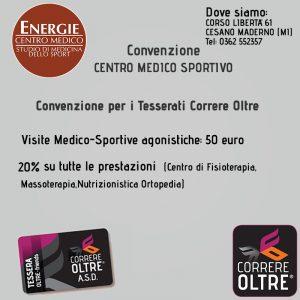 CONVENZIONE CORRERE OLTRE VISITA MEDICA AGONISTICA