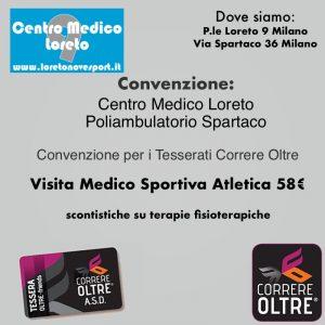 convenzione correre oltre con il centro medico loreto milano